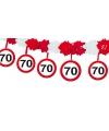 70e verjaardag slinger met stopborden