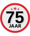 Ronde 75 jaar sticker