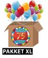 75 jaar feestartikelen pakket XL