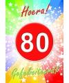 80 jaar verjaardag poster