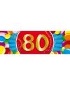 Leeftijd sticker 80 jaar