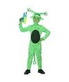 Groene alien Crypto verkleedkleding voor jongens