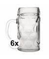 Bierpullen halve liter 6 stuks