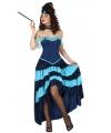 Burlesque jurk blauw