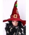 Donkerrode heksen hoeden