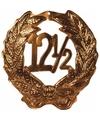 Brons huldebord 12,5 jaar