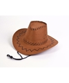 Bruine kinder cowboyhoeden