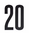 Leeftijd cijfer stickers 20 jaar