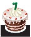 Verjaardags taart kaarsjes 7 jaar