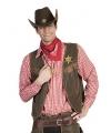 Rode geruite cowboy blouse voor heren