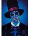 Day of the Dead schmink set neon skelet