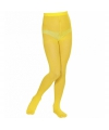 Gekleurde kinder panty geel