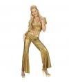Gouden glitter broeken dames