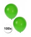 100x Groene feest ballonnen