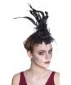 Haar accessoire zwarte haarband met roos