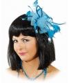 Haarclip blauwe bloem