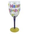 Feestglas happy birthday 23 cm