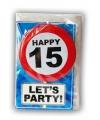 Verjaardagskaart 15 jaar