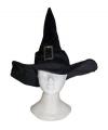 Luxe heksen hoed fluweel look