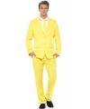 Origineel gele print kostuum