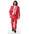 Rode business suit met kerst thema