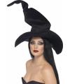 Zwarte heksenhoed met ijzerdraad