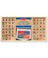 Houten stempelsetje alfabet