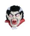Dracula masker met zwart/wit haar
