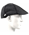 Antraciet flat cap pet voor heren