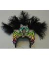 Luxe zwarte hoofdtooien met veren