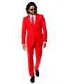 Fel rood business pak voor heren