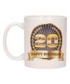 Happy birthday mok / beker 20 jaar