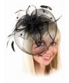 Vintage hoedje zwart op kam