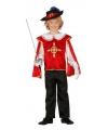Musketiers outfit jongens rood