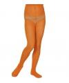 Gekleurde kinder panty oranje