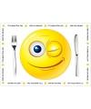 10 Smiley thema placemats van papier