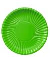Groene wegwerp bordjes 23 cm
