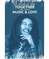 Bob Marley music and love poster 61 x 91 cm