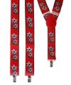 Rode bretels met bloemen Edelweiss