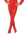 Rode kinder panty voor bij body