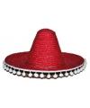 Rode Mexicaanse sombrero 60 cm