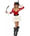Sexy piraten kostuum rood voor dames