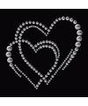 Stickers strass twee harten