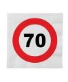 Stopbord servetjes 70 jaar 16 stuks