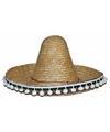 Mexicaanse sombrero stro voor kinderen 25 cm