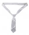 Korte stropdas met glitter pailletten