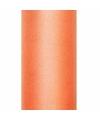 Oranje tule stoffen15 cm breed
