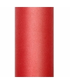 Rode tule stoffen15 cm breed