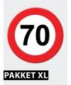 Verkeersbord  70 jaar versiering pakket XL