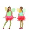 Kinder kostuum vlinder groen/rood